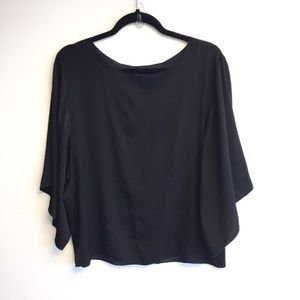 ARITZIA Babaton Oversized Open Back Top Black M/L
